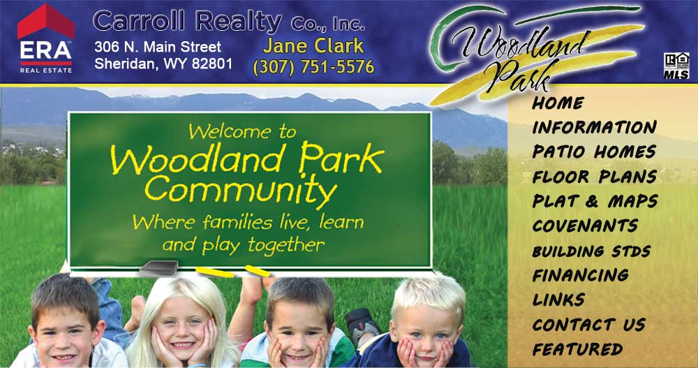 Woodland Park Subdivision - Affordable Housing - Sheridan Wyoming